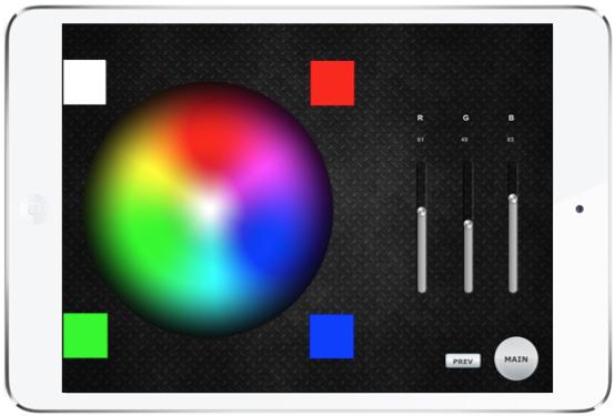 Domotica con iPad Leds RGB